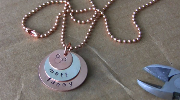 DIY Tutorial: Stacked Hand Stamped Necklace
