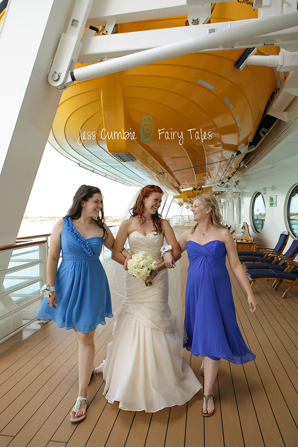 Disney Cruise Wedding Photos: Ginger + Tim