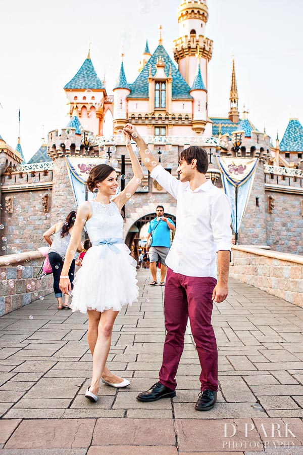 Modern Cinderella Engagement Photos at Disneyland: Lindsey + Brandon