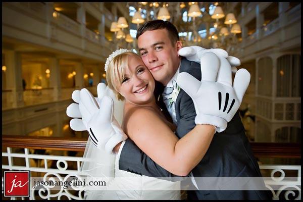 Walt Disney World Wedding Photos: Alison + David