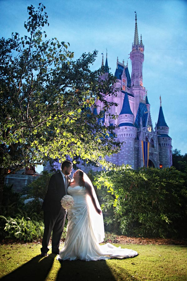Magic Kingdom Bridal Session Wedding Photos: Amanda + Kevin