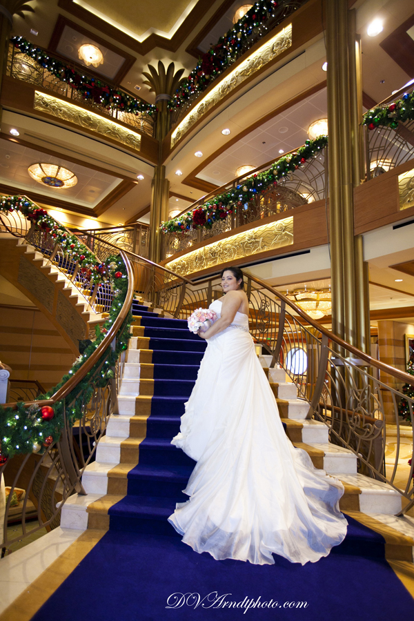 Disney Dream Cruise Ship Wedding: Evianca + Hector