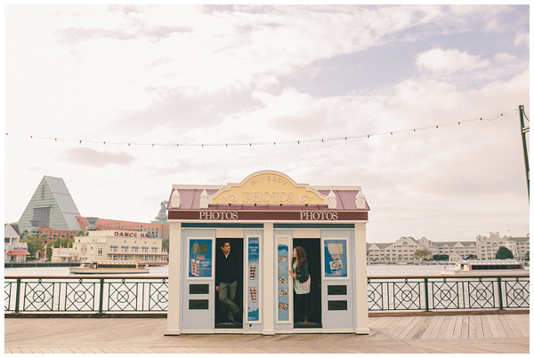 Disneys BoardWalk Engagement Photos: Genna + Neil