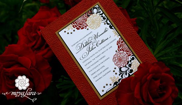 Rose Court Disneyland Wedding Invitation Suite from MOYA LARA