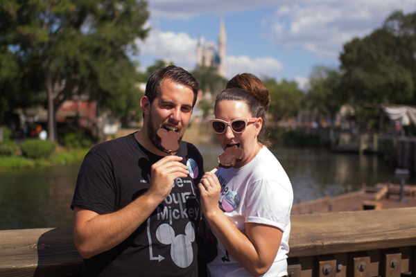 A Pre Wedding Photo Session at the Magic Kingdom: Stephanie + Sam
