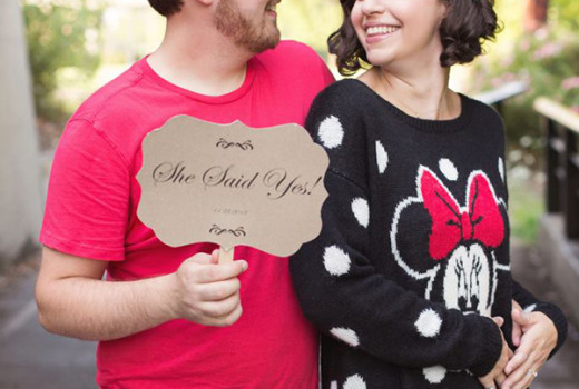 Disney Themed Engagement Photos at Home: Molly + Evan
