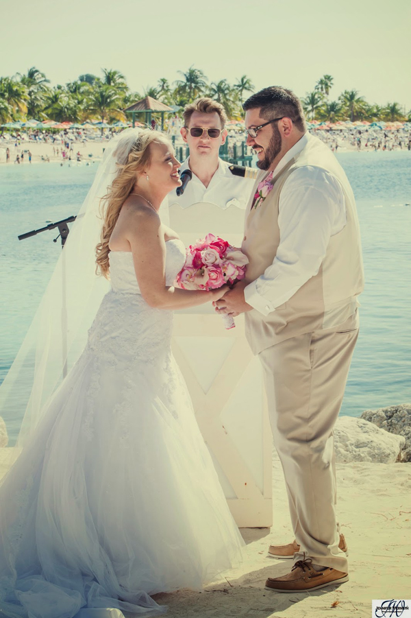 Disney Cruise Wedding on Castaway Cay: Leora + Matthew