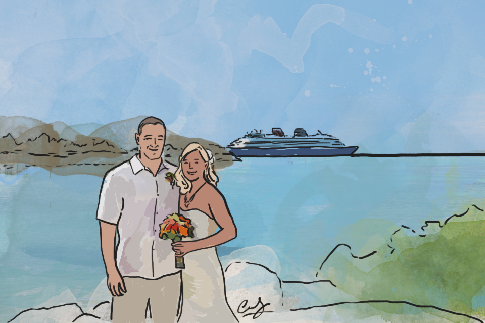 Nicolette + Brett at Their Disney Cruise Wedding