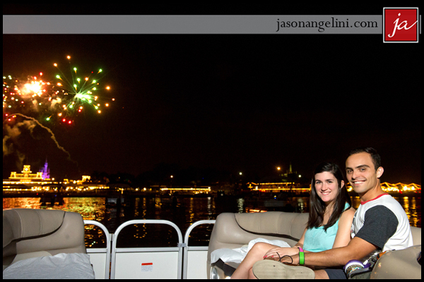 Surprise Disney Proposal on a Fireworks Cruise: Jessica + Arnold