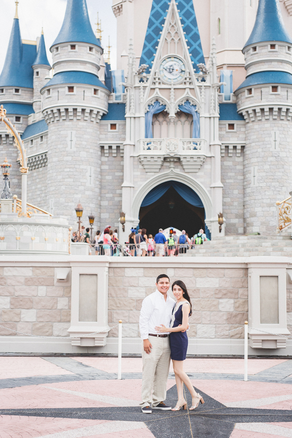 Engagement Photos at Walt Disney World: Stephanie + Steven